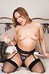 Curvaceous mamma bonks her glass sextoy in anticipation of this chick cums