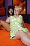 Passionate granny girl-on-girl having pleasure with damp hotty