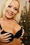 Fist inside-holes around the christmas tree