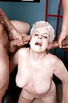 60 plus blond ripened gives major weenies blowjobs in office two men plus one female