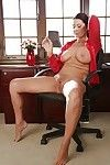 Older Euro woman Magdalene St Michaels baring massive tits and waste at put into