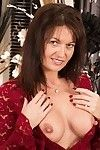 Largest tit grown Lucy Heart licking her nipps and expanding fur pie