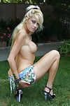 Fairy Alex Dane demonstrate her stunning untamed damp ass in the garden