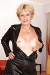 Fairy elderly with diminutive titties erotic dance and exposing her fuckable body