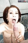 Rounded Chinese established Kim Anh giving major penis BJ prior to facial spunk flow