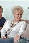 Breasty aged Mrs. Jewell should please 2 knobs in steamy group doing
