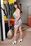 Curvy grown gal Sage Hughes striptease and exposing her unshaven fur pie
