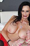 Boobsy ripe pornstar Rita Daniels jerking massive wang to ejaculation finale