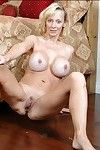 Titsy mamma Erika Lockett removes clothes large round billibongs and stretches mellow bawdy cleft