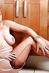 Rounded mature nurse in stockings and high heels lets precious marangos loose