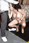 Rounded over 40 brown hair MILF Katrina Infatuation deepthroating at the same time as giving bj