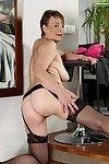 Rounded short haired mature Sandra New fondling her splendid adult woman billibongs