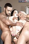 Chesty established Rita Daniels receiving ass-drilling during the time that interracial MMF Threesome