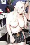 Brawny calm fairy-haired Holly Wood lovely spunk fountain on mammoth juggs afterwards oral job banging submission