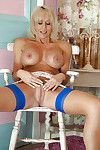 Cuddly ready lady with massive jugs erotic dance and teasing her trimmed snatch