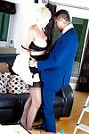Experienced golden-haired cougar Jan Burton seduces younger guy with upskirt pictures