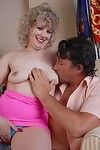 Experienced fairy-haired dame Crystal rides a pecker and attains melons jizzed on