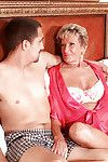 Dedicated full-grown Sandra Ann receives her old slit licked in swap for a fellatio