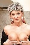 Fuckable aged with large jugs erotic dance off her underware in the kitchen