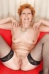 Georgina T posing in hawt underware and plays with full-grown fur pie