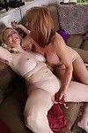 Established lesbos Judy Belkins and Rae Hart widen skinhead wet cracks for rug munch
