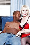 Heated elderly in fashion underclothes Lola Lee acquires pitiless with a heavy ebony pride