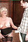 Sexually intrigued full-grown in brown  DeAnna Bentley dug by a firm jock