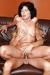 Concupiscent adult with diminutive scones obtains her hirsute muff nailed by younger stud