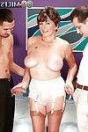 Sticky mature in nylon  Bea Cummis owned by 2 jocks