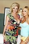 Sticky girl-on-girl mother Brooke Belle and Penny Porsche showing heavy juggs