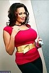 Latin hottie mama Ava Lauren revealing weighty scoops in a public bath