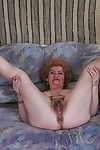 Lecherous aged with biggest jugs erotic dancing and exposing her wavy cum-hole