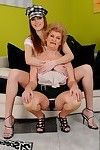 Lesbo fuck features adolescent hotty and a passionate grown up Effie in high heels