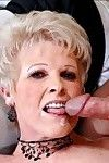 Lewd full-grown Mrs. Jewell brings out puffy juggs and enjoys smokin\'