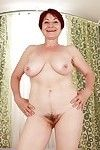 Lusty grandpa with gigantic shuffle love melons striptease and widening her legs