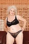 Lusty older with large zeppelins erotic dancing off all of her