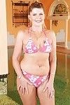Lusty aged with appealing waste and unshaven cooter exquisite off her bikini