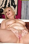 Placid young with enormous bra buddies shows her unshaved cunt.