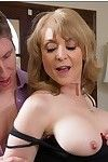 Ripe prostitute Nina Hartley has some hardcore getting joy with a younger mate