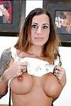 Placid wife Mona Love shows major mounds with entering and yummy fur pie