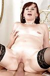 Ripe woman in stocking freeing miniscule scoops from underware sooner than giving bj