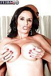 Bawdy mature in erotic sexy pants Rita Daniels satisfying twofold prides