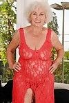 Dirty older with tough limp bra buddies erotic dance off her sheer clothing