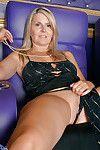 Mature fairy Velvet Skye exposing grown titties and trimmed gentile