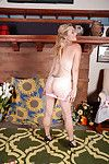 Full-grown broad Cristine Ruby undressing for swelling of buttocks and bush