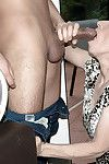 Over 60 cougar with shaggy twat and saggy milk sacks jolly hardcore pounding