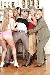 Seductive babe Bibi Noel posing and erotic dancing with her companions