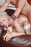 Ache older in white nylons gives a facefucking and purchases dug hardcore