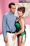 Astonishingly seductive and hawt aged Bea Cummins got dresses up in expensive inexpert underware and then dug by well hung juvenile man.
