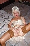 Underclothes mature expanding her wrinkled twat